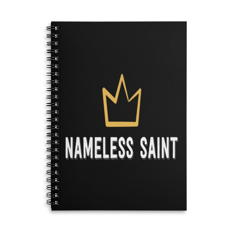 Crown Accessories Lined Spiral Notebook by Nameless Saint