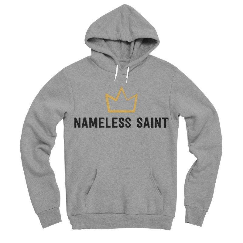 Crown (black letters) Men's Sponge Fleece Pullover Hoody by Nameless Saint