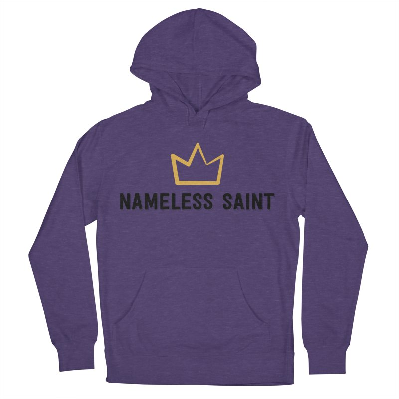 Crown (black letters) Women's French Terry Pullover Hoody by Nameless Saint