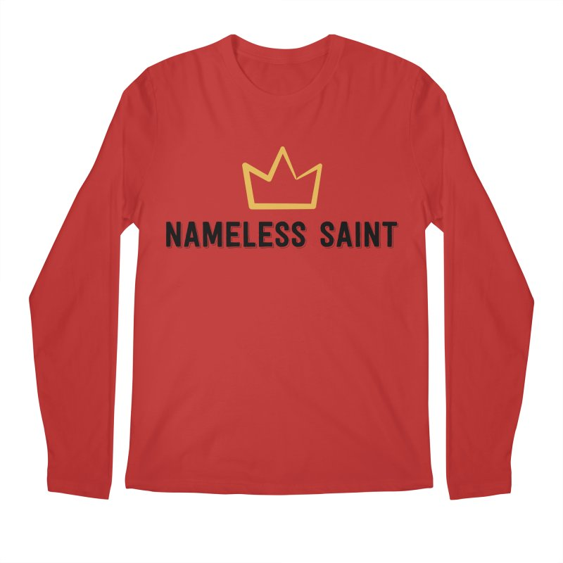 Crown (black letters) Men's Regular Longsleeve T-Shirt by Nameless Saint