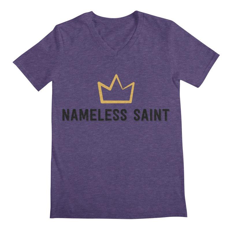 Crown (black letters) Men's Regular V-Neck by Nameless Saint