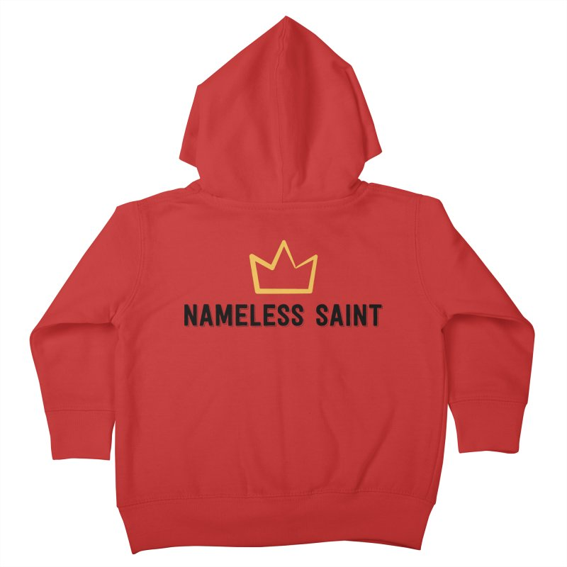 Crown (black letters) Kids Toddler Zip-Up Hoody by Nameless Saint