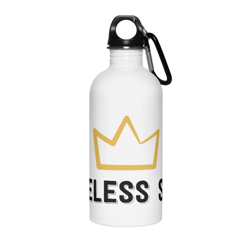 Crown (black letters) Accessories Water Bottle by Nameless Saint