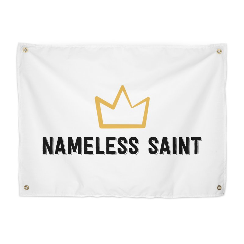 Crown (black letters) Home Tapestry by Nameless Saint