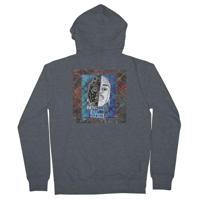 Half and Half Men's French Terry Zip-Up Hoody by Nameless Saint