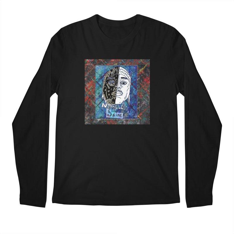 Half and Half Men's Regular Longsleeve T-Shirt by Nameless Saint