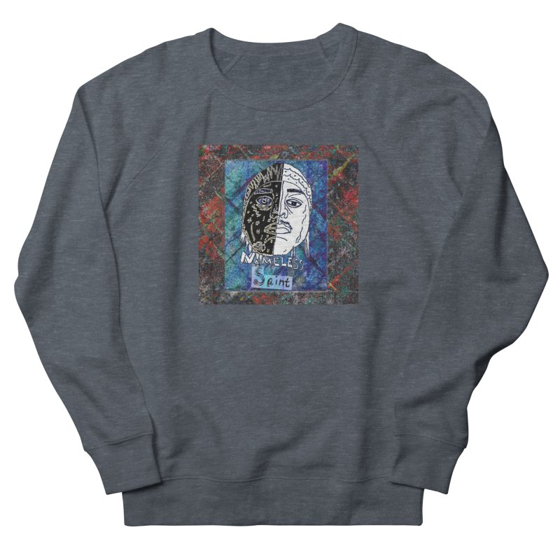 Half and Half Men's French Terry Sweatshirt by Nameless Saint