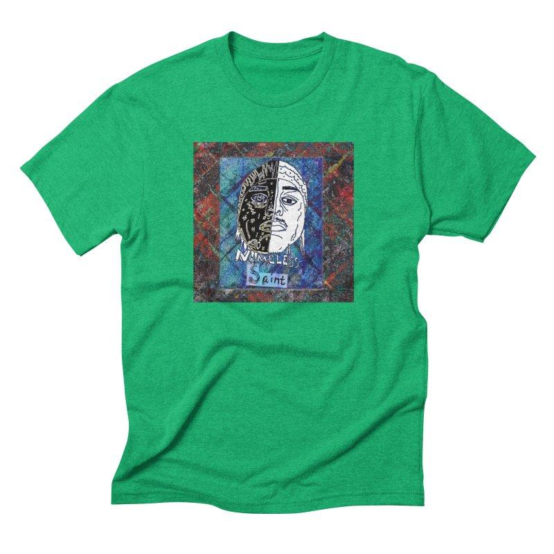 Half and Half Men's Triblend T-Shirt by Nameless Saint