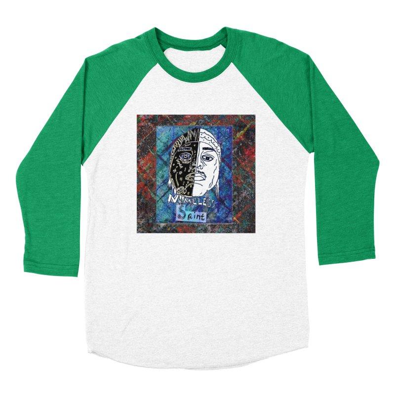 Half and Half Women's Baseball Triblend Longsleeve T-Shirt by Nameless Saint