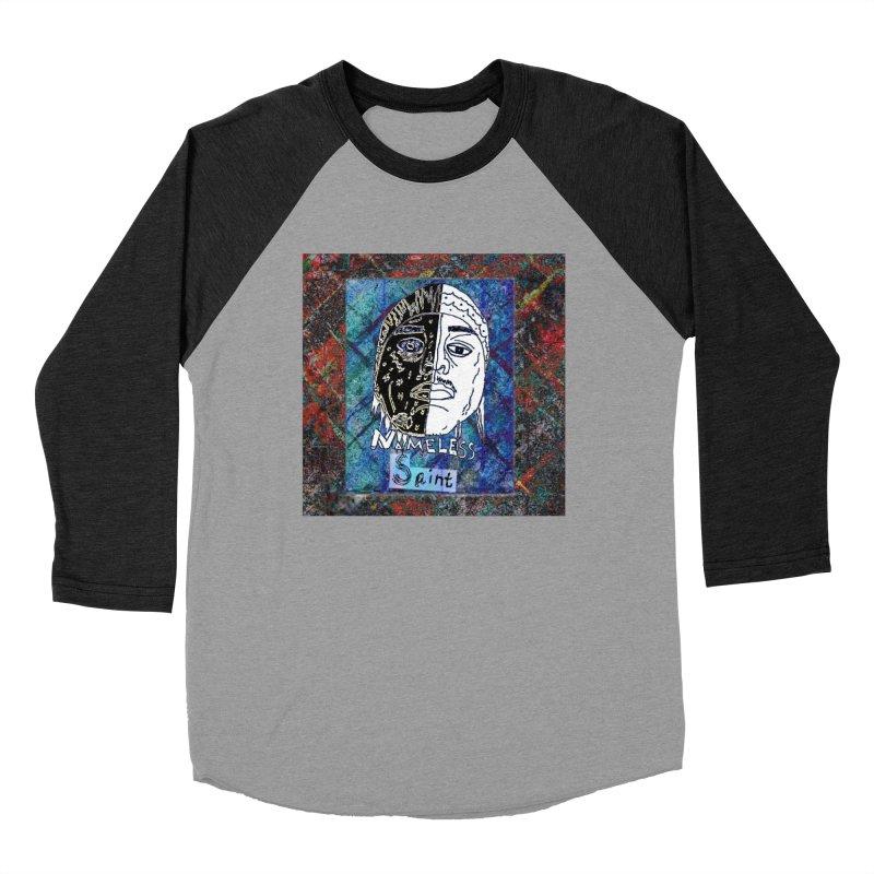 Half and Half Men's Baseball Triblend Longsleeve T-Shirt by Nameless Saint
