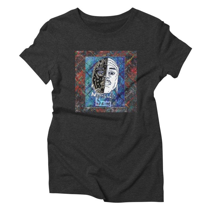 Half and Half Women's Triblend T-Shirt by Nameless Saint