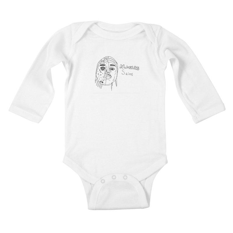 Good vs Evil Kids Baby Longsleeve Bodysuit by Nameless Saint