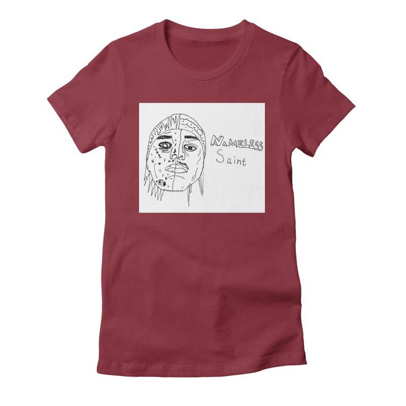 Good vs Evil Women's Fitted T-Shirt by Nameless Saint