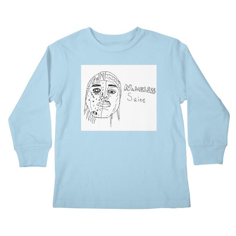 Good vs Evil Kids Longsleeve T-Shirt by Nameless Saint