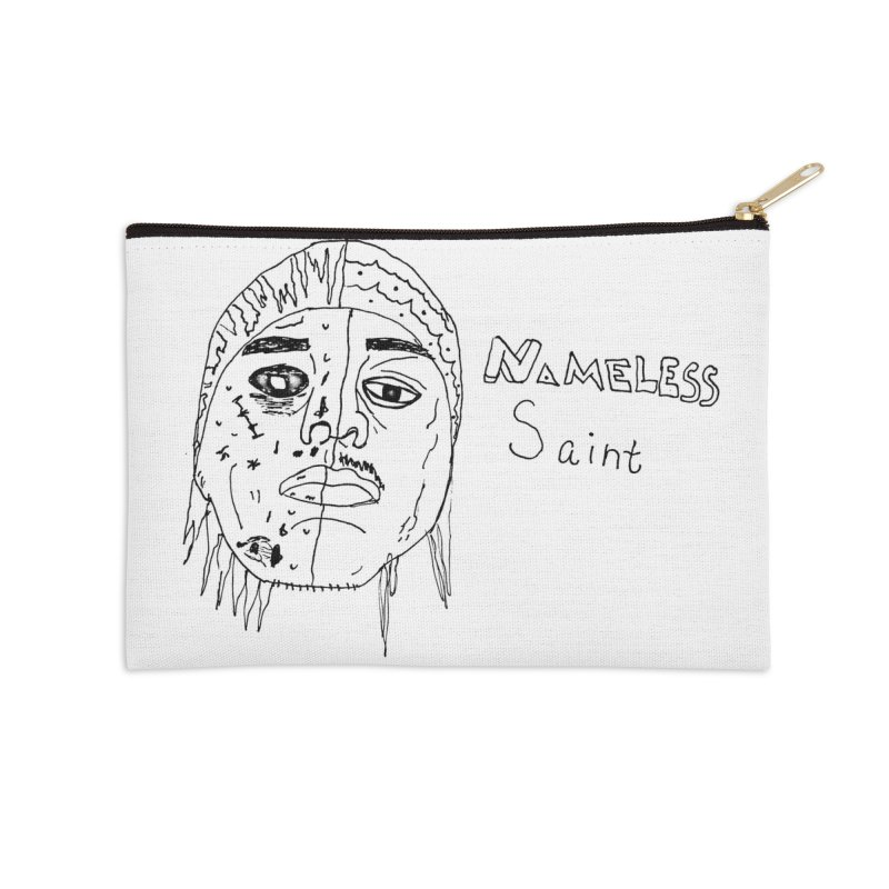 Good vs Evil Accessories Zip Pouch by Nameless Saint