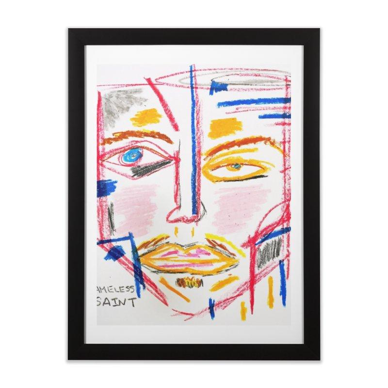 Nameless Pastel Home Framed Fine Art Print by Nameless Saint