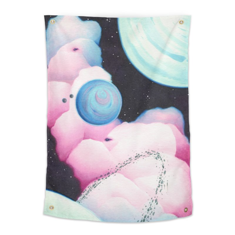Cotton Candy Space Home Tapestry by Nana Marchae Art Shop