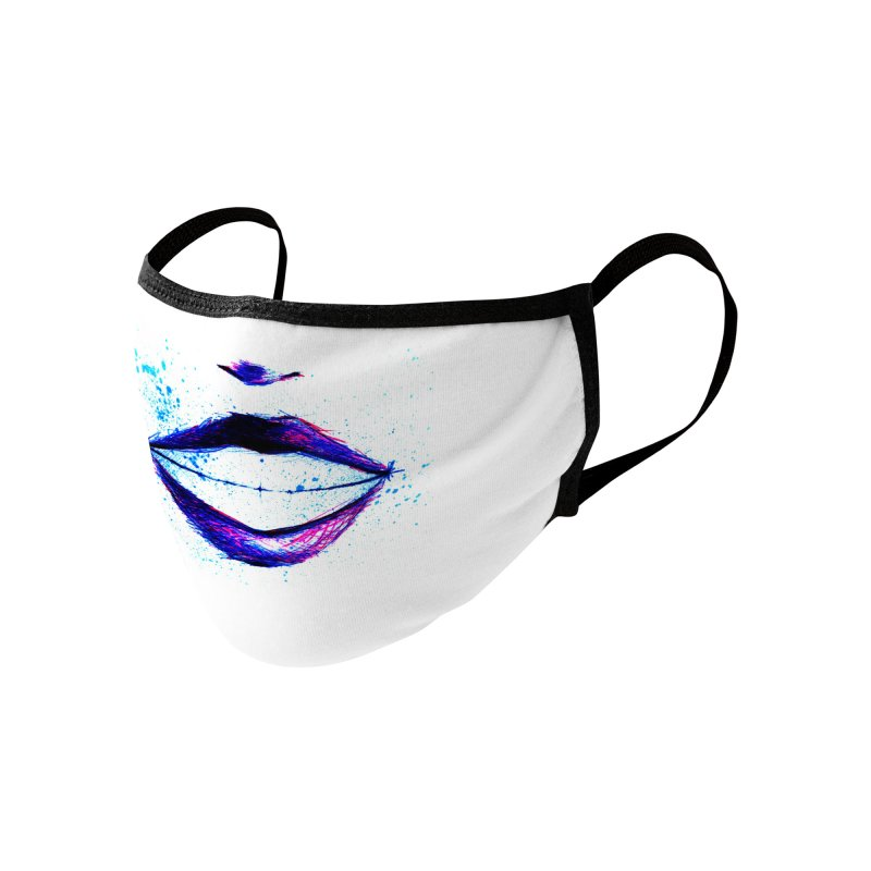 Smile Accessories Face Mask by Nana Marchae Art Shop