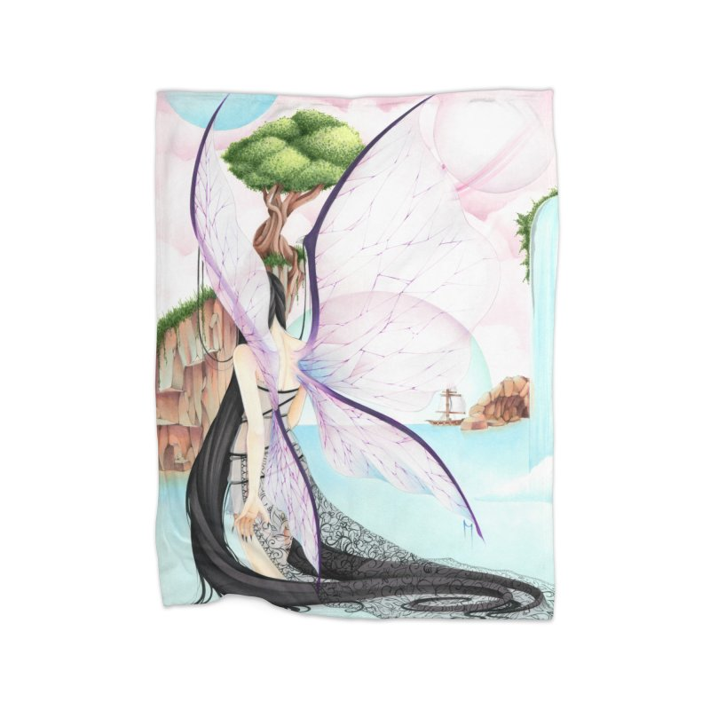 Dark Fairy Home Blanket by Nana Marchae Art Shop