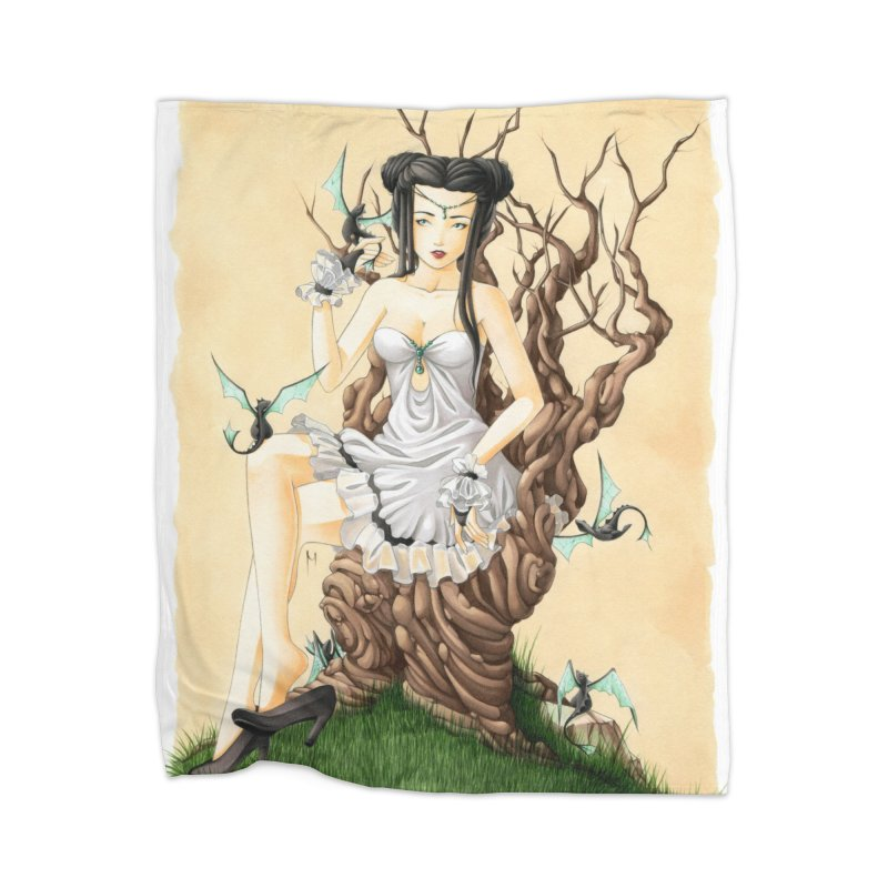 Dragon Keeper Home Blanket by Nana Marchae Art Shop