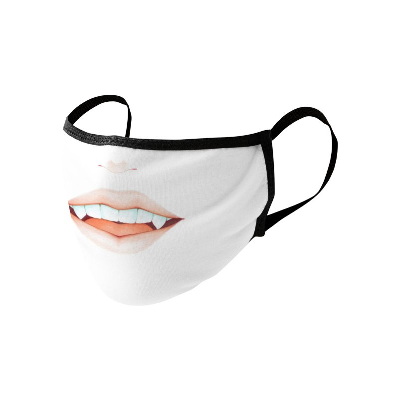 Fangs Accessories Face Mask by Nana Marchae Art Shop