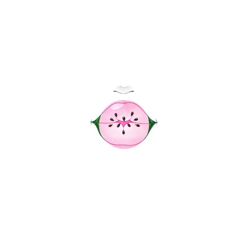 Watermelon Bubblegum Accessories Face Mask by Nana Marchae Art Shop
