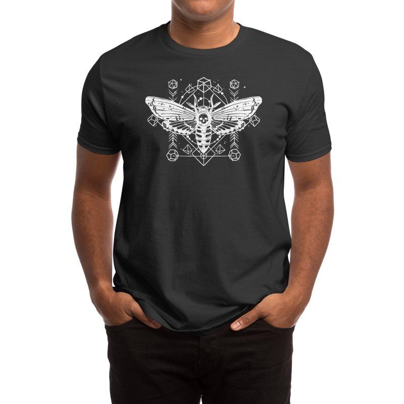 Skull Moth RPG Dice Men's T-Shirt by Nat20Nerd's Artist Shop