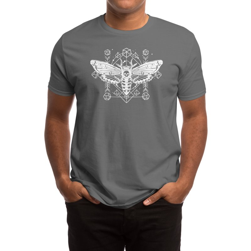 Skull Moth RPG Dice Men's T-Shirt by Nat20Nerd's Artist Shop