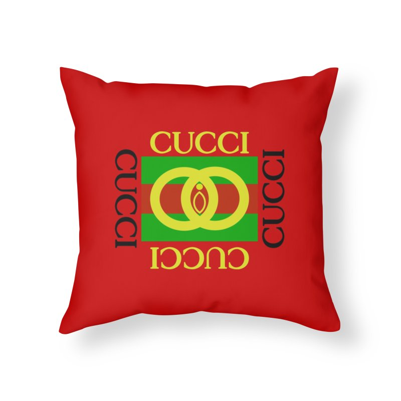 CUCCI Block Home Throw Pillow by NatalieBlaine Design
