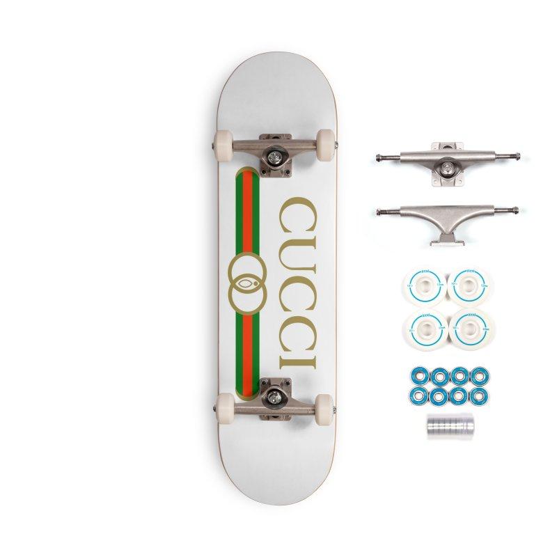 CUCCI Stripe Accessories Skateboard by NatalieBlaine Design