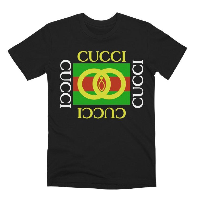 CUCCI Block White Men's T-Shirt by NatalieBlaine Design
