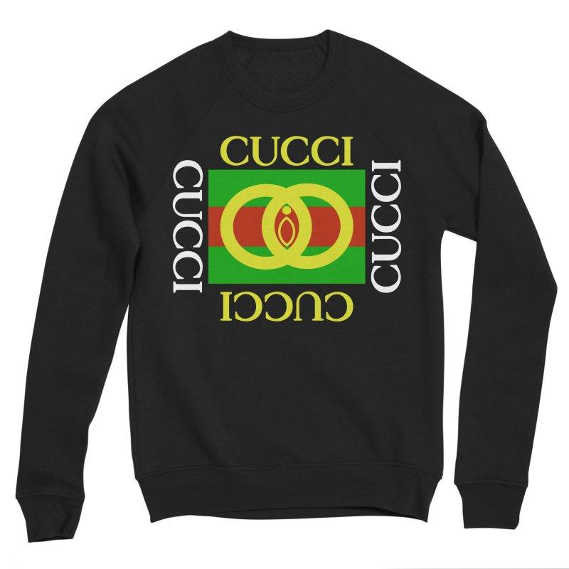 CUCCI Block White Men's Sweatshirt by NatalieBlaine Design