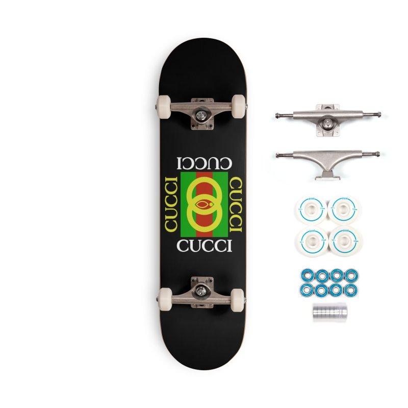 CUCCI Block White Accessories Skateboard by NatalieBlaine Design