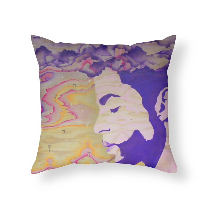 Purple Rain Home Throw Pillow by NatalieBlaine Design