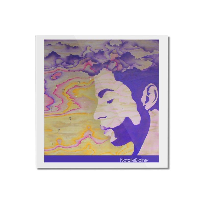 Purple Rain Home Mounted Acrylic Print by NatalieBlaine Design