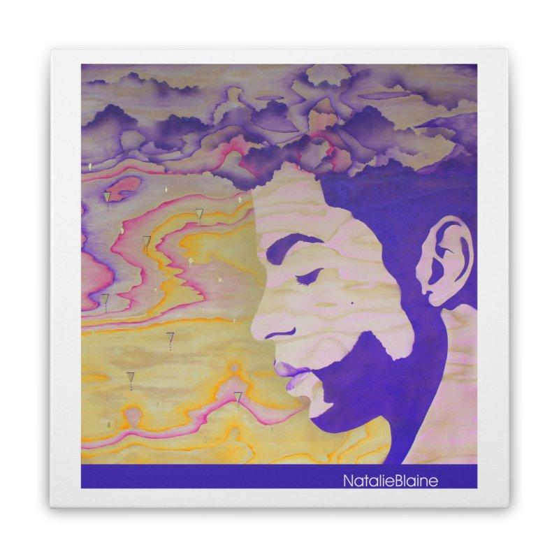 Purple Rain Home Stretched Canvas by NatalieBlaine Design