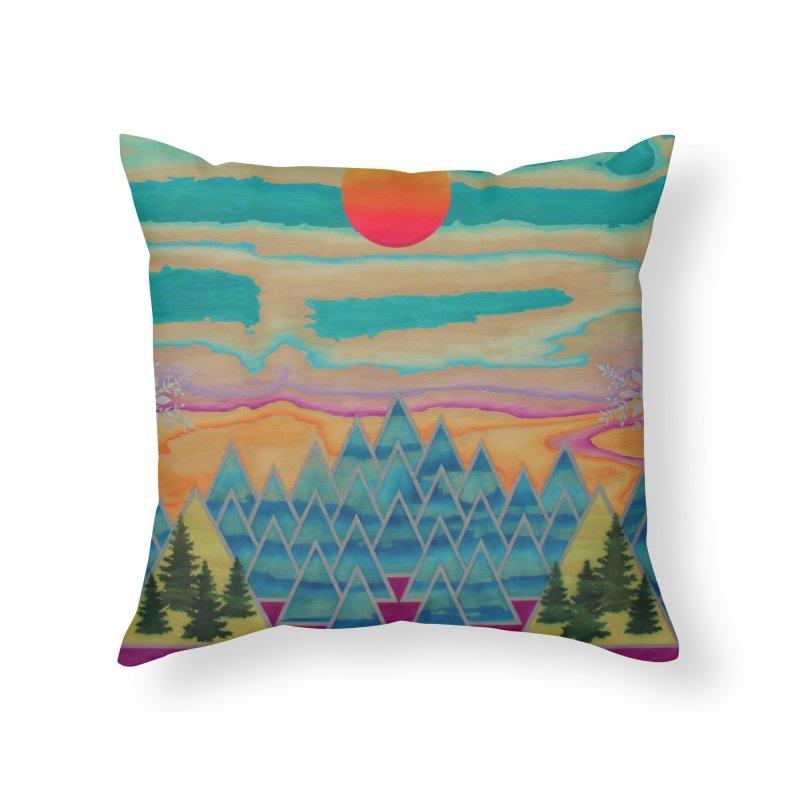 Second Snow Home Throw Pillow by NatalieBlaine Design
