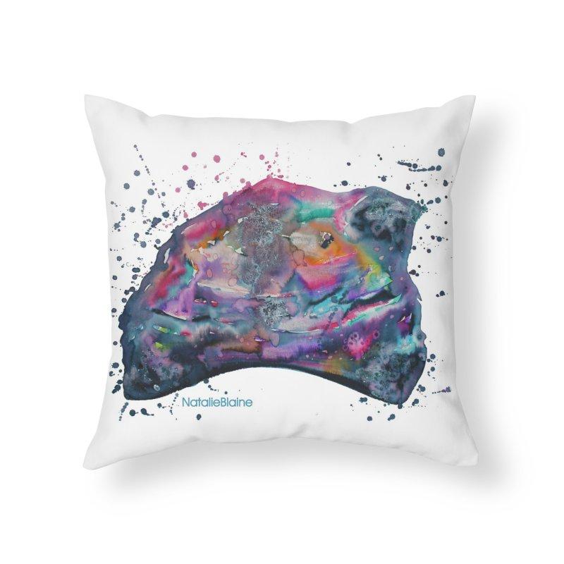 Opal Splash Home Throw Pillow by NatalieBlaine Design