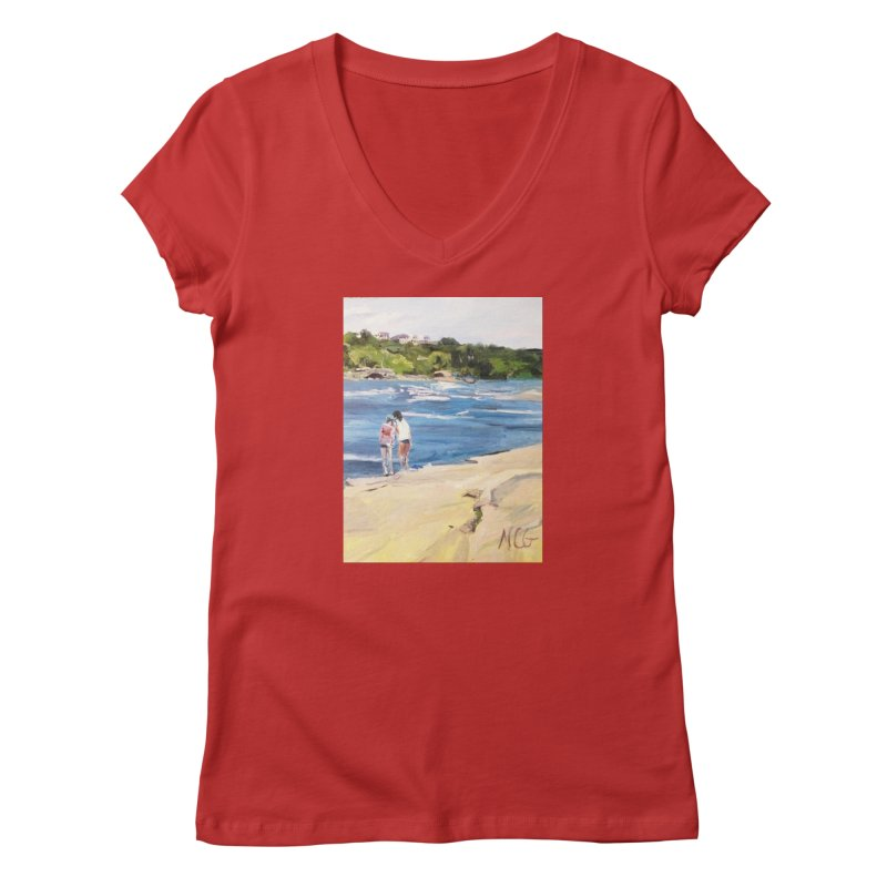 Wednesday Afternoon on Belle Isle Women's V-Neck by NatalieGatesArt's Shop