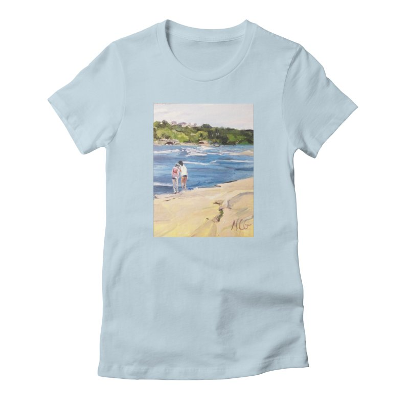 Wednesday Afternoon on Belle Isle Women's Fitted T-Shirt by NatalieGatesArt's Shop