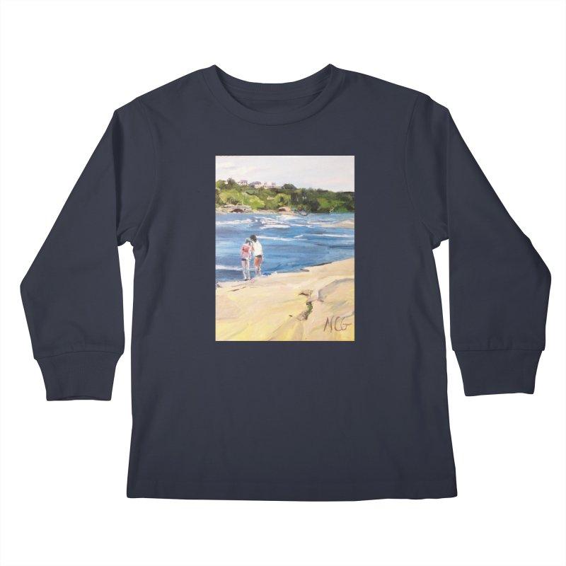 Wednesday Afternoon on Belle Isle Kids Longsleeve T-Shirt by NatalieGatesArt's Shop