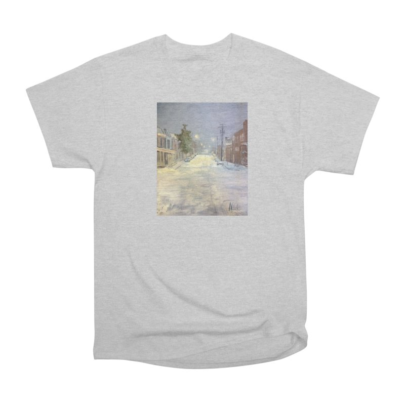 Mulberry and Main, 1AM in the Snow Women's T-Shirt by NatalieGatesArt's Shop