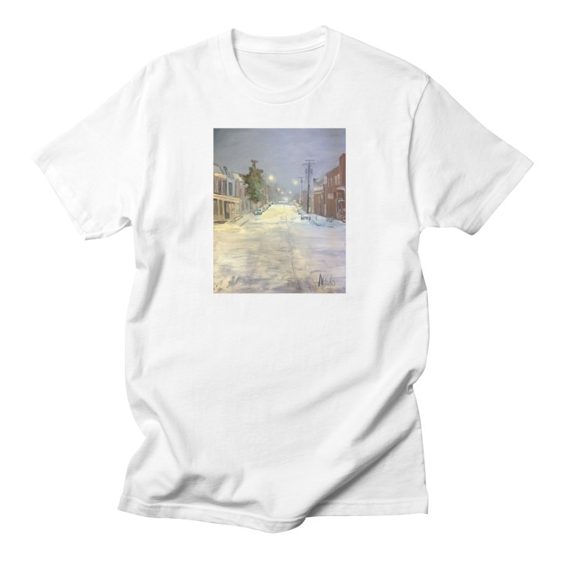 Mulberry and Main, 1AM in the Snow Men's T-Shirt by NatalieGatesArt's Shop