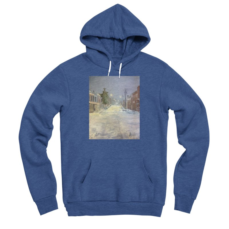 Mulberry and Main, 1AM in the Snow Women's Sponge Fleece Pullover Hoody by NatalieGatesArt's Shop