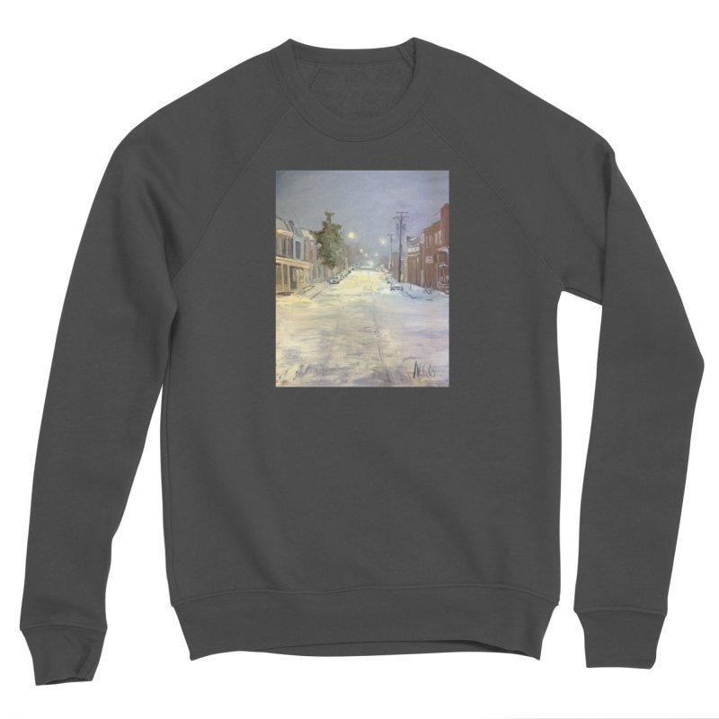 Mulberry and Main, 1AM in the Snow Women's Sponge Fleece Sweatshirt by NatalieGatesArt's Shop