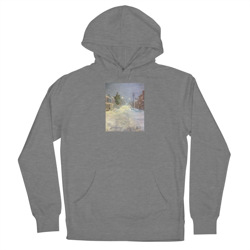 Mulberry and Main, 1AM in the Snow Women's Pullover Hoody by NatalieGatesArt's Shop