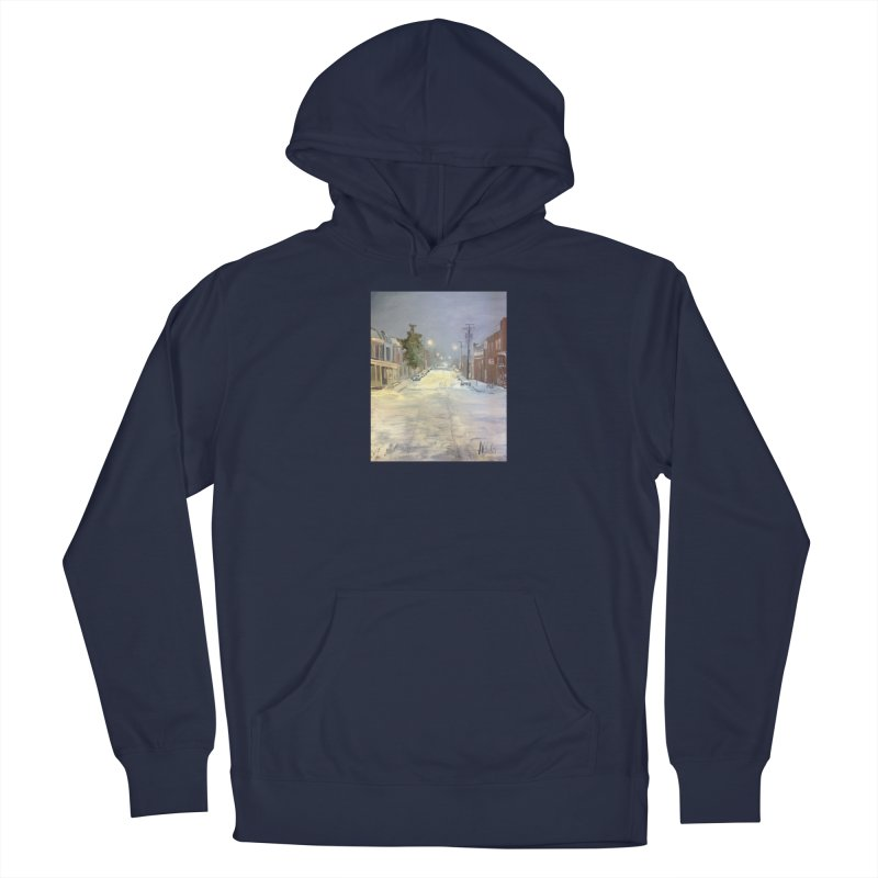 Mulberry and Main, 1AM in the Snow Men's Pullover Hoody by NatalieGatesArt's Shop
