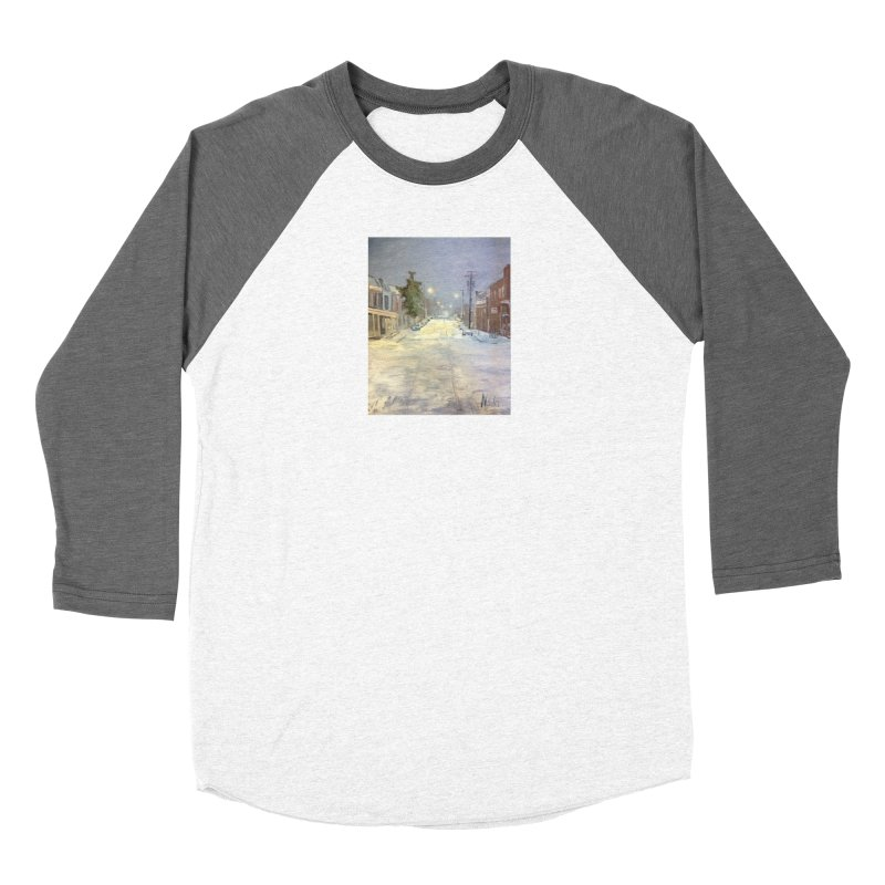 Mulberry and Main, 1AM in the Snow Women's Longsleeve T-Shirt by NatalieGatesArt's Shop