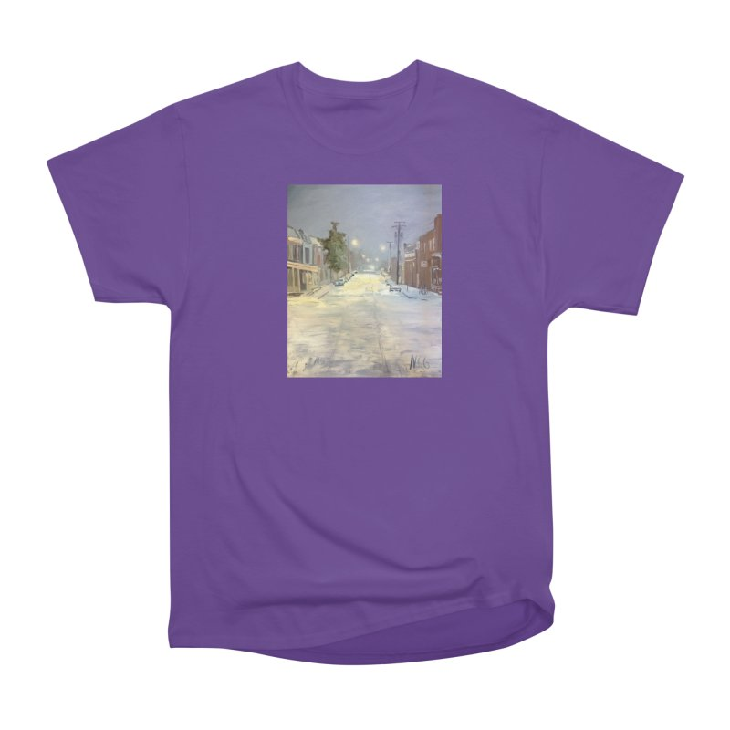 Mulberry and Main, 1AM in the Snow Women's Heavyweight Unisex T-Shirt by NatalieGatesArt's Shop