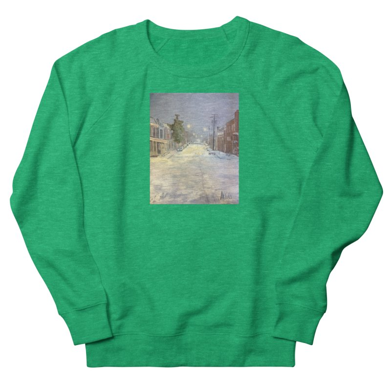 Mulberry and Main, 1AM in the Snow Women's Sweatshirt by NatalieGatesArt's Shop